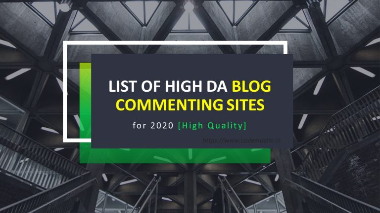 List of High DA Blog Commenting Sites