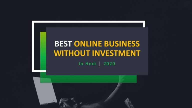 Best Online Business Without Investment