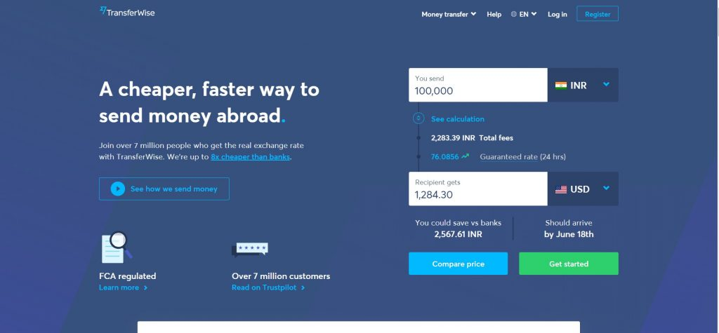 TransferWise - Best PayPal Alternative India