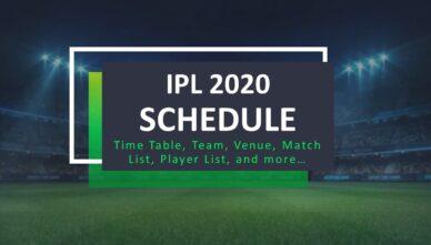 IPL 2020 Schedule – Time Table, Teams, Venue & More