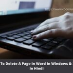 How To Delete A Page In Word In Windows & Mac