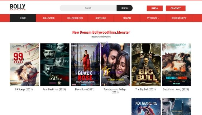 Bollyshare 2021 - Download Latest Bollywood, Hollywood HD Movies Free