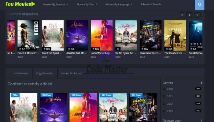 FouMovies 2021 - Download HD Bollywood Hollywood Movies & Series
