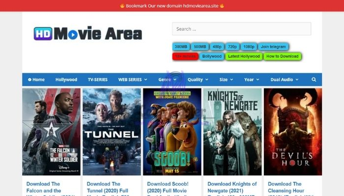 HDMoviearea - 300MB Movies, 480p Movies, 720p Movies - Dual Audio HD Movies