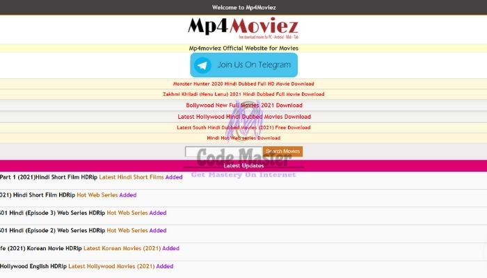 Mp4moviez - Free Download New HD Mp4 Bollywood, Hollywood Movies