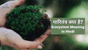 पारितंत्र क्या है?   Ecosystem Meaning In Hindi