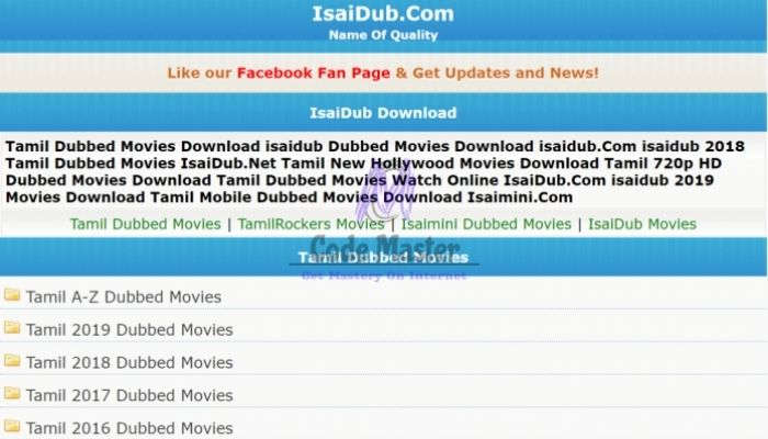 Isaidub 2021 - Free Download New Tamil Dubbed Movies And Series