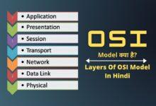 OSI Model क्या है? | Layers Of OSI Model In Hindi